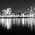 Cityscape In Black And White - Philadelphia by Bill Cannon