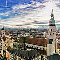 Cityscape Of Munich by Michael Fellner