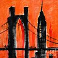 Cityscape Orange by Paul Brent