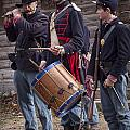 Civil War Reenactors With Drum And Fife by Randall Nyhof