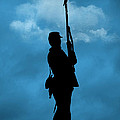 Civil War Soldier Silhouette by Cindy Haggerty