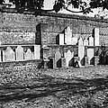 Civil War Wall Of Tombstones Savannah Georgia by Brittany Horton