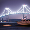 Claiborne Pell Bridge At Night by Bill Cannon