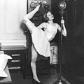 Clair Luce Exercising On Radio by Underwood Archives