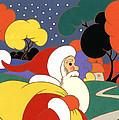 Clarice Cliff Santa by Carol Lawson