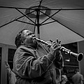 Clarinet Player In New Orleans by David Morefield