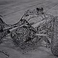 Clark And The Lotus 25 by Juan Mendez