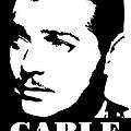 Clark Gable Black And White Pop Art by David G Paul
