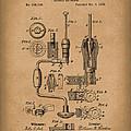 Clarkson Bit Brace 1883 Patent Art Brown by Prior Art Design