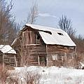Classic Barn In Snow by Ray Summers Photography