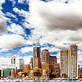 Classic Boston Skyline From The Water by Mark E Tisdale