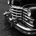 Classic Cadillac Sedan Black And White by Edward Fielding