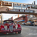 Classic Cannery Row - Monterey California With A Vintage Red Car. by Jamie Pham