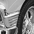 Classic Car Reflections - Training Wheels -179bw by Jill Reger