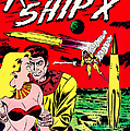 Classic Comic Book Cover - Rocket Ship X - 1225 by Wingsdomain Art and Photography