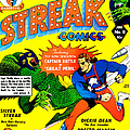 Classic Comic Book Cover - Silver Streak Comics Captain Battle - 0250 by Wingsdomain Art and Photography