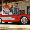 Classic Corvette on Route 66 by Mike McGlothlen
