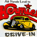Classic Drive In Sign by David Lee Thompson