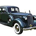 Classic Green Packard Luxury Automobile by Keith Webber Jr