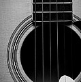 Classic Guitar In Black And White by Paul Ward