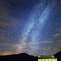 Classic Old Yellow School House Milky Way Sky by James BO Insogna