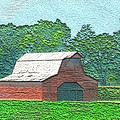 Classic Red Barn by Debbie Portwood