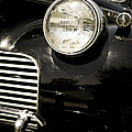 Classic Vintage Car Black And White by Edward Fielding