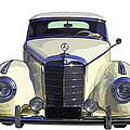Classic White Mercedes Benz 300  by Keith Webber Jr