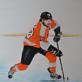 Claude Giroux Philadelphia Flyer by Joanne Grant