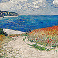 Claude Monet's Path In The Wheat Fields At Pourville-1882 by Doc Braham