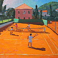 Clay Court Tennis by Andrew Macara