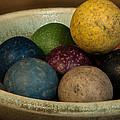 Clay Marbles In Bowl by Randy Walton