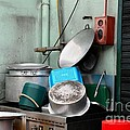 Clean Pots And Pans On Outdoor Sink by Imran Ahmed