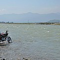 Cleaning Motorcycle At Riverside Swat Valley Pakistan by Imran Ahmed