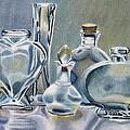 Clear Glass Bottles by Marilyn Healey