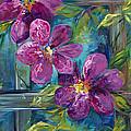Clematis Turquoise Garden by Karen Ahuja