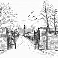 Clermont Farm Gate by Richard Wambach