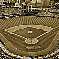 Cleveland Baseball In Sepia by Frozen in Time Fine Art Photography