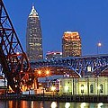 Cleveland Blue Hour Panoramic by Frozen in Time Fine Art Photography