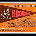 Cleveland Browns 1959 Retro Print by Paul Van Scott