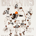 Cleveland Browns 40's To 50's Hall Of Famers by Joe Lisowski
