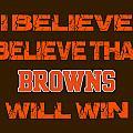 Cleveland Browns I Believe by Joe Hamilton