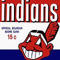 Cleveland Indians 1957 Scorecard by John Farr