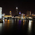 Cleveland Lakefront Nightscape by Dale Kincaid