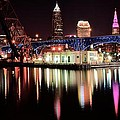 Cleveland Panoramic Reflection by Frozen in Time Fine Art Photography