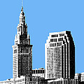 Cleveland Skyline 1 - Light Blue by DB Artist