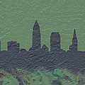 Cleveland Skyline Brick Wall Mural by Brian Reaves