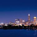 Cleveland Skyline Dusk by John Magyar Photography