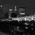 Cleveland Ultra Rez Best View Black And White by Clint Buhler