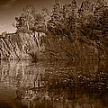 Cliff Face Northshore Mn Bw by Steve Gadomski